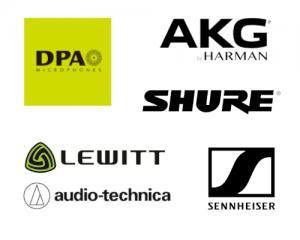 dpa akg shure lewitt sennheiser audio technica